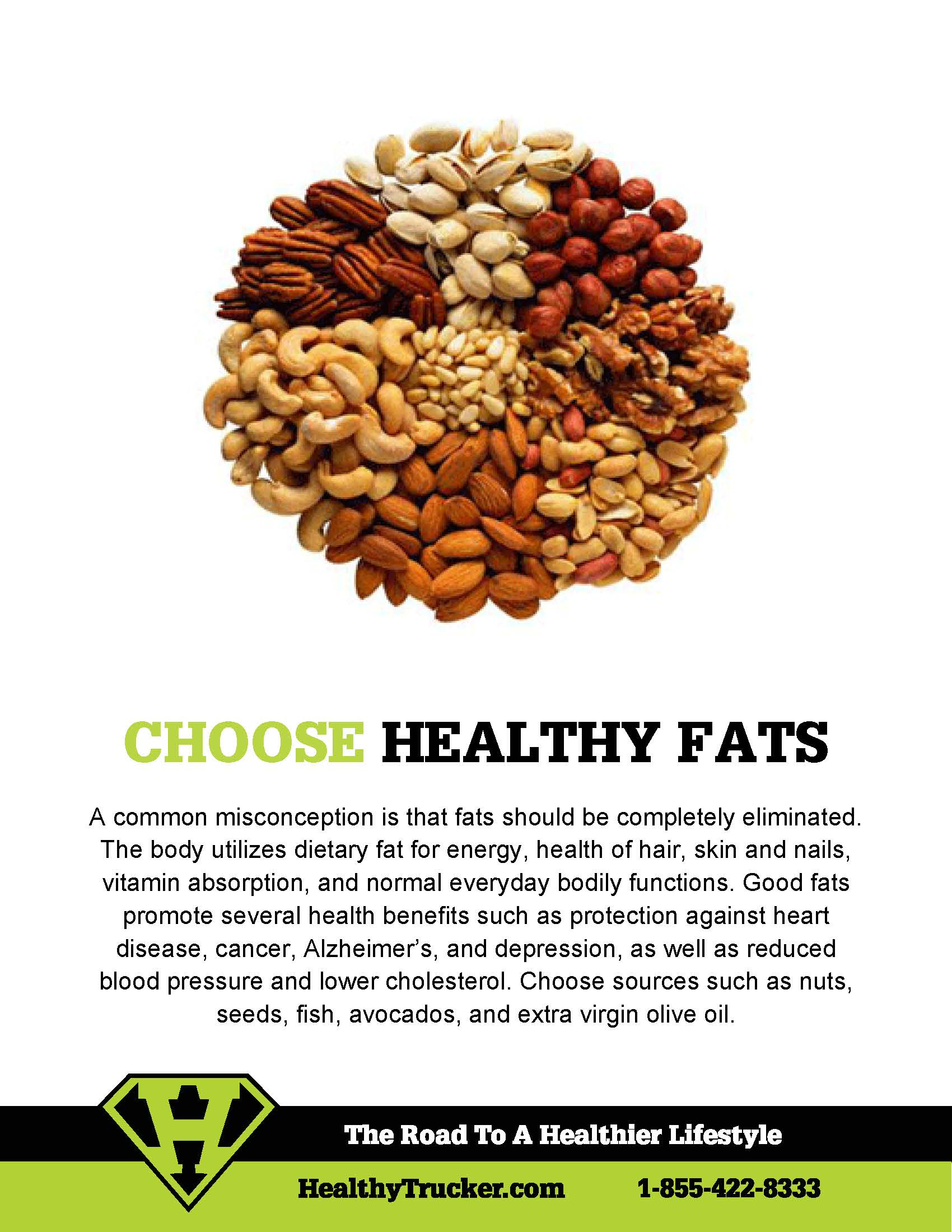 Healthy Fats Poster