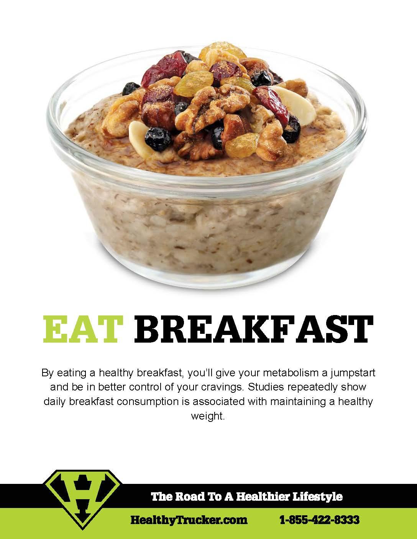 Healthy Trucker Tip #5 - Eat Breakfast
