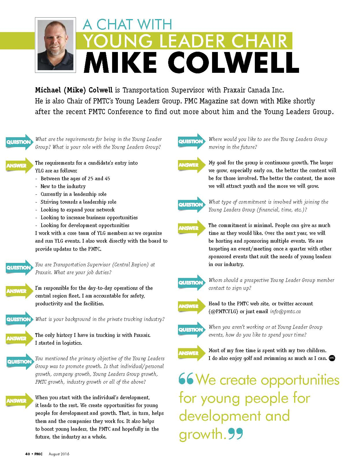 Mike Colwell Interview